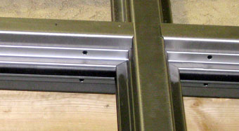 Detail view of storefront framing joint