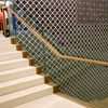 "3/4"" tempered glass stair railing for Anthropologie – Chelsea Market, NYC"